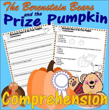 Berenstain Bears Prize Pumpkin Thanksgiving Comprehension Multiple Choice