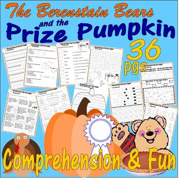 Berenstain Bears Prize Pumpkin Thanksgiving Comprehension PACKET Lined Paper