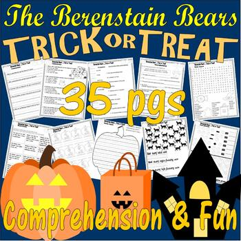 Berenstain Bears Trick Treat Halloween Comprehension Book Companion LINED PAPER