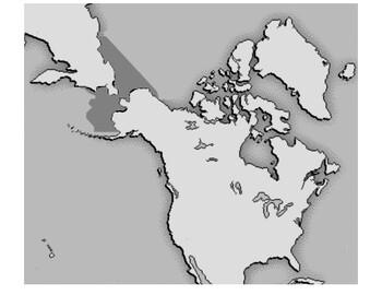 Bering Land Bridge  map landscape mode