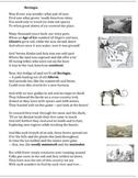 Beringia (1) - poem, worksheets and puzzle