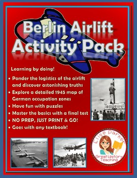Berlin Airlift Activity Pack: Worksheets, Map Study, Puzzles, and Test