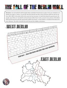 Berlin Wall Reading, Worksheet, and Interactive Notebook