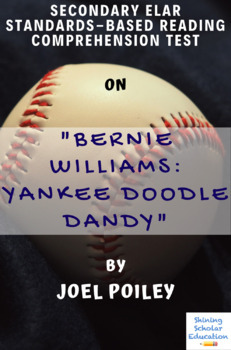 """""""Bernie Williams: Yankee Doodle Dandy"""" by J. Poiley Multiple-Choice Reading Test"""