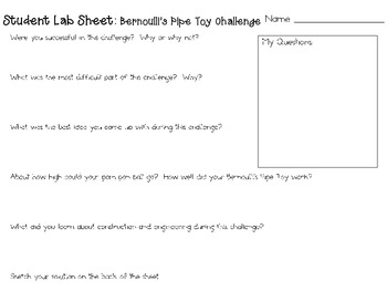 Bernoulli's Pipe Toys: Engineering Challenge Project ~ Great STEM Activity!