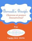 Bernoulli's Principle   Three Air Pressure Demonstrations & Experiments STEM