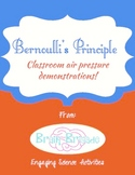 Bernoulli's Principle | Three Air Pressure Demonstrations