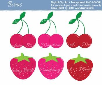 Berries clip art - 6 clip arts