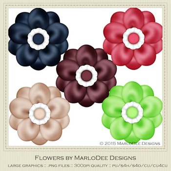 Berry Colors Digital Flower Graphics