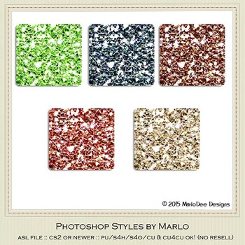 Berry Colors Glitter Photoshop Style