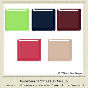 Berry Colors Gloss Photoshop Style