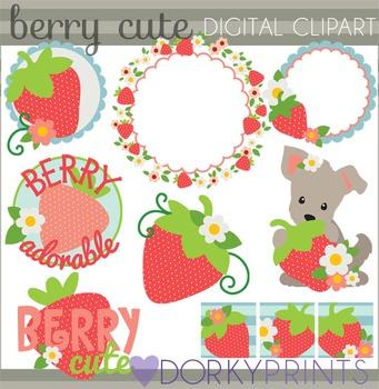 Berry Cute Strawberry Clip Art