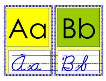 Berry Lemon ABC letters with cursive, word wall, dipthongs, and blends