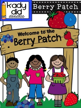 Berry Patch {Strawberries & Blueberries} Color & BW