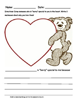 """Berry"" Special Valentine Writing Prompt"