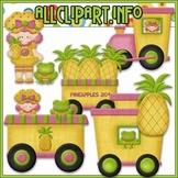 BUNDLED SET - Berry Sweet Choo Choo (Pineapple) Clip Art & Digital Stamp Bundle