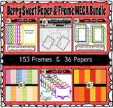 Berry Sweet Digital Papers and Frames {BUNDLE}