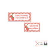 Berry Sweet Teacher, Teacher Appreciation Week Bag Toppers Printable Strawberry