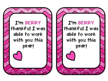 Berry Thankful Co-worker Gift Tag