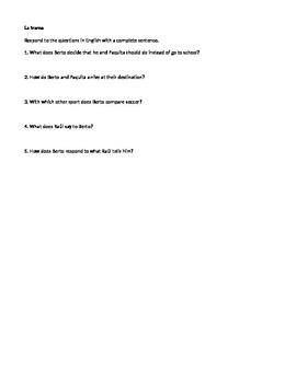 Berto y sus buenas ideas - Student Reading Guide