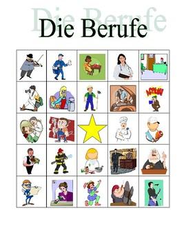 Berufe (Professions in German) Bingo