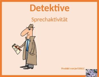 Berufe (Professions in German) Detectives Speaking activity