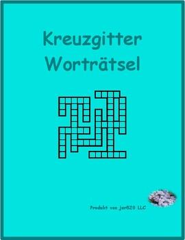 Berufe (Professions in German) Kriss Kross puzzle
