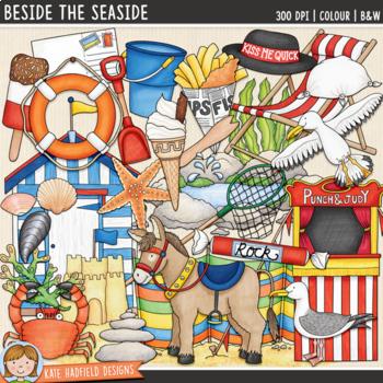 "British Beach Clip Art: ""Beside the Seaside"""