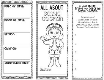Bessie Coleman Craft Worksheets & Teaching Resources | TpT