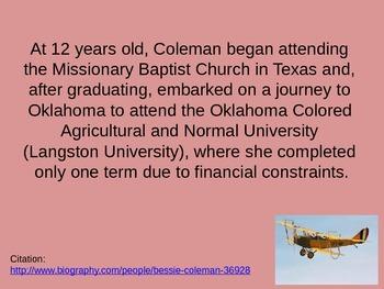 Bessie Coleman, Aviator