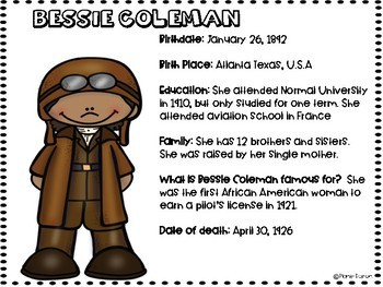 Bessie Coleman Biography Black History Famous American and Women