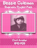 Bessie Coleman Biography Project Pack
