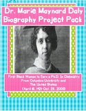 Women's History Month Dr. Marie Maynard Daly Biography Project Pack