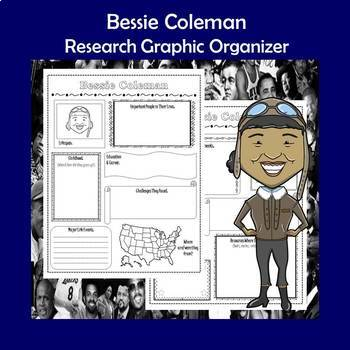 Bessie Coleman Biography Research Graphic Organizer