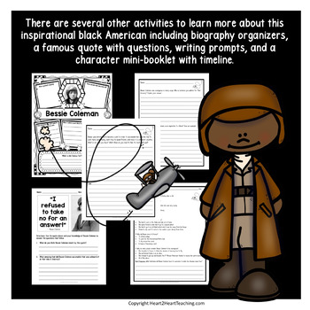 Bessie Coleman Biography Unit w/Articles, Activities for Women's History Month