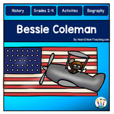 Bessie Coleman Biography Unit w/Articles, Activities for W