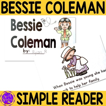 Bessie Coleman Black History Simple Reading Activity