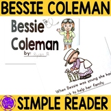 Bessie Coleman Black History Simple Reading Activity