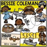Bessie Coleman Clip Art Set {Educlips Clipart}