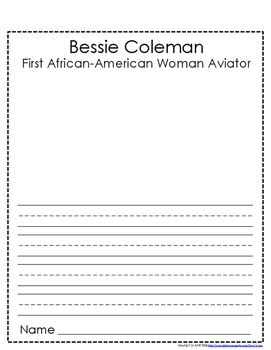 Women's History Month: Bessie Coleman - First African-American Woman Aviator