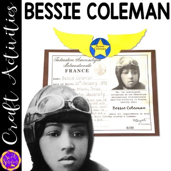 Bessie Coleman craft (Black History; aviation) K-5