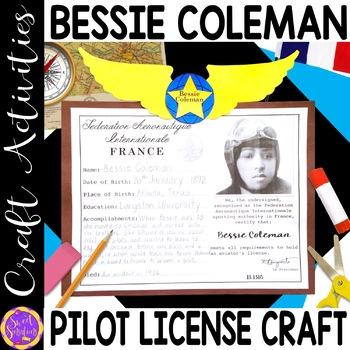 Bessie Coleman craft (Black History; aviation) K-5