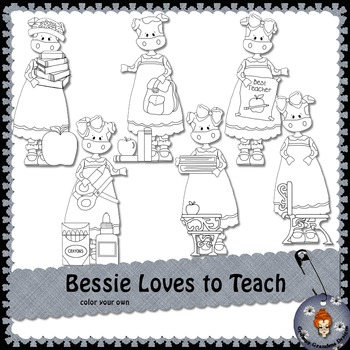 Bessie Loves To Teach color your own