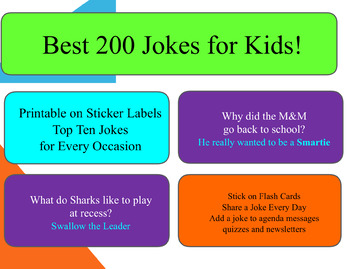 best 200 jokes printable on label stickers