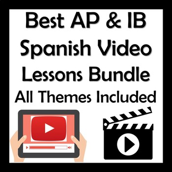 Best AP & IB Spanish Video Lessons Bundle - All Themes Included