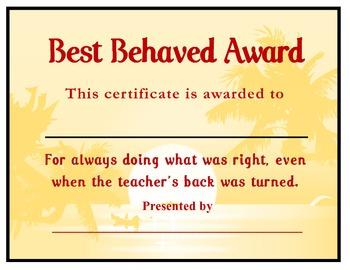 Best Behaved Award