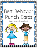 Best Behavior Punch Cards