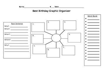 Best Birthday Graphic Organizer