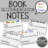 Book Recommendation Notes