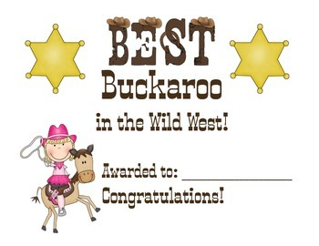 Best Buckaroo Award for girls